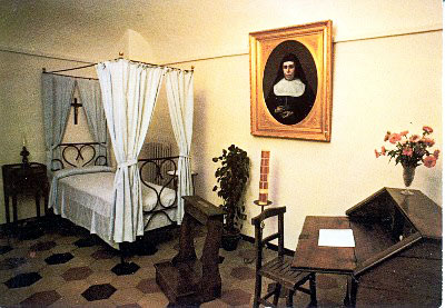 Neste quarto, no instituto de Nizza, morre Maria Domingas Mazzarello, no dia 14 de maio de 1881