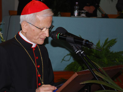 Rome.  Official opening of General Chapter XXII. Cardinale Raffaele Farina.