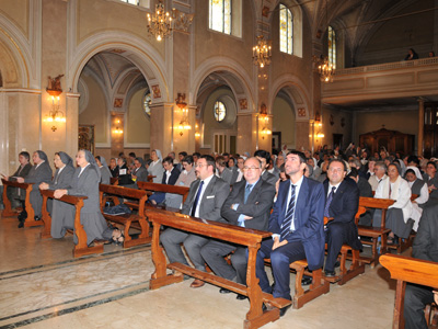Nizza. The Eucharistic celebration was presided by the Rector Major in the sanctuary Our Lady of Grace.