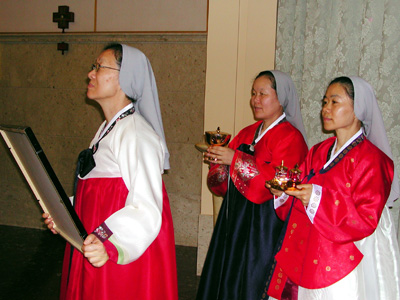 Rome. The capitulars celebrate the memorial of the Korean Martyrs. The offertory.