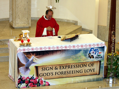 Rome. Eucharistic celebration commemorating the Spanish Martyrs. The conference PCI animates the liturgy.