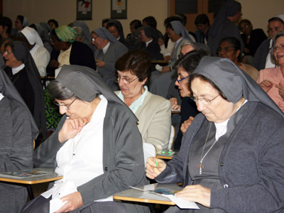 Rome. The Sisters of the CIMAC conference animate a game of Bingo for recreation.