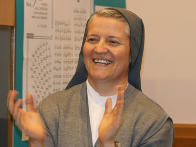 Rome. Sr. Bernarda Santamaria, consultant of the Missions sector accompanies the neo-missionaries during their formation.