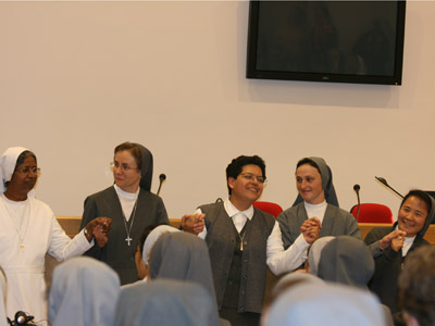 Rome. The neo-missionaries and all the capitulars intone a song of thanksgiving for the missionary vocations.