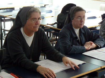 "The Chapter members have a working day at the Pontifical Faculty of the Science of Education ""Auxilium."""