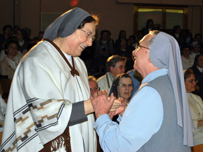 Rome. The capitulars thank Mother General for her 12 years of service as superior general.