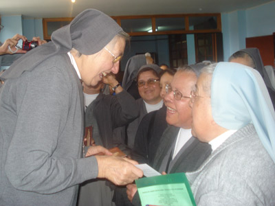 "Visit of Mother Yvonne Reungoat to the Colombian province ""N.S. del Rosario di Chiquinquirá"" (CBC)."