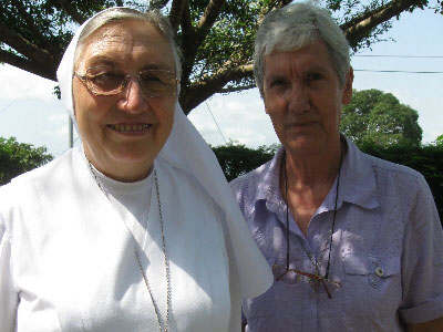 "Libreville. Visit to the Province of Equatorial Africa ""St. Maria D. Mazzarello"" (AEC). Mother General with the pioneer Sister, Sr. Simone Geli."