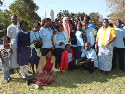 Zambia. With some of the participants from Kasama, Sr. Julienne, the Provincial, and Sr. Caroline.