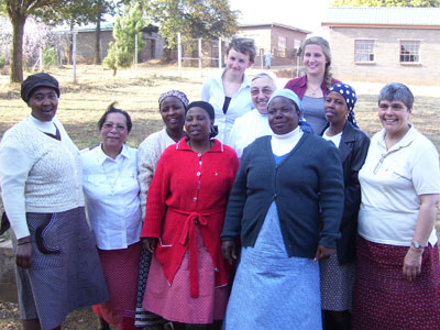 Lesotho. With the teachers and volunteers.