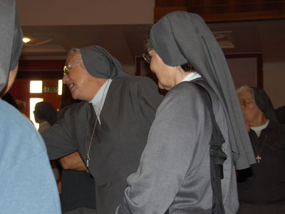 Arrival of the Sisters of the province and greetings of Mother General.