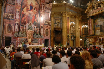 Eucharistic celebration, European Youth Gathering