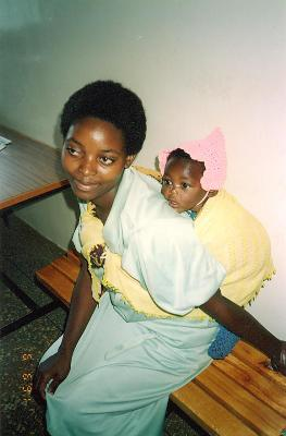 An African woman with a child.