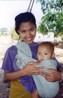 A young woman with her child.