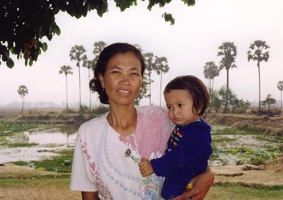 A woman with her child.