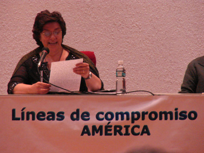 "Over 300 past pupils from America took part in the Congress "" Lines of Commitment of the Association in the American Continent""whose topic was ""Family: cradle of life, teacher of truth and of peace."" The president Carolina Fiorica."
