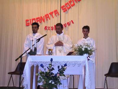 Eucharistic celebration during the social gathering of the Southern Federation