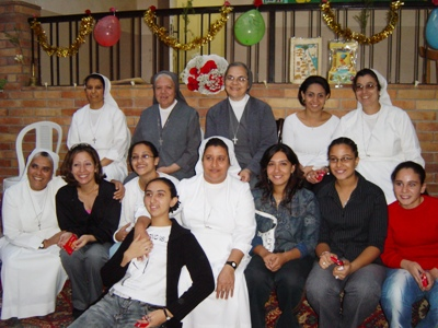 Sr Maria de los Angeles and the Past Pupil Catechists of the Oratory of Cairo