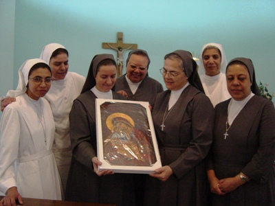 Sr Maria de los Angeles and the Community of Rod El Farag, during the 75th Anniversary of its foundation