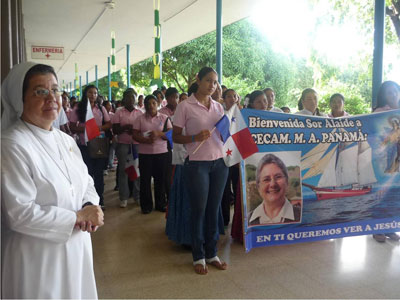 Panamá.  Canonical visit of Sr. Alaíde Deretti to the province of  'Our Lady of the Angels' of southern central America (CAR).