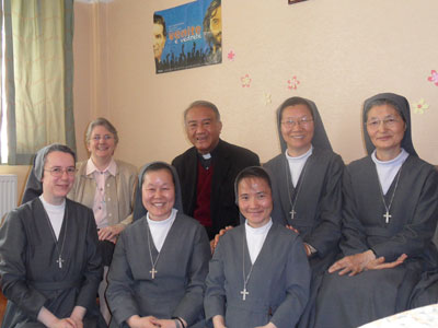 Ulaanbaatar. Visit of Sr. Alaide Deretti to the province of Korea-Mongolia(KOR).With Bishop Wenceslao Padilla.