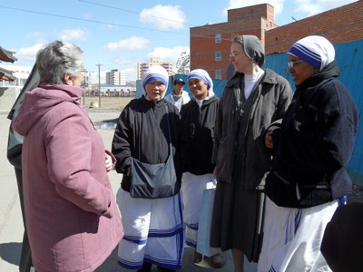 Ulaanbaatar. Visit of Sr. Alaide Deretti to the province of Korea-Mongolia(KOR).Casual meeting with the Sisters of Mother Teresa of Calcutta.