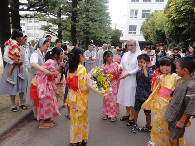 Tokyo. Canonical visitation of Sr. Giuseppina Teruggi to the province of Alma Mater (GIA). Arrival.
