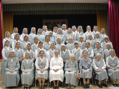 Tokyo. Canonical visitation of Sr. Giuseppina Teruggi to the province of Alma Mater (GIA).  Provincial house community.