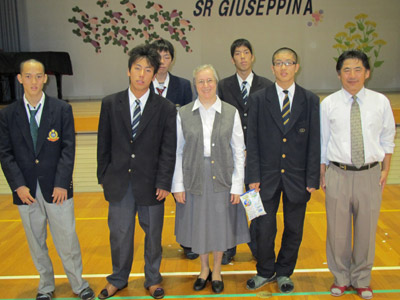 Oita. Canonical visitation of Sr. Giuseppina Teruggi to the province of Alma Mater (GIA). Social work - greetings in Italian.