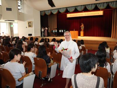 Tokyo. Canonical visitation of Sr. Giuseppina Teruggi to the province of Alma Mater (GIA).