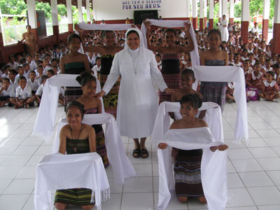 Dili. Canonical visit of Sr. Lucy Rose – East Timor and Indonesia (TIN). Thanksgiving to Sr.Lucy.