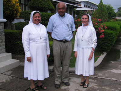 Dili. Canonical visit of Sr. Lucy Rose – East Timor and Indonesia (TIN). Meeting with the bishop of Baucau His Excellency Basilio de Nascimento DD.