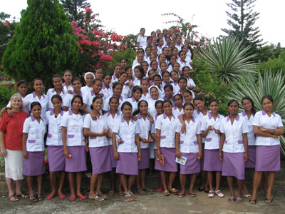 Fuiloro. Canonical visit of Sr. Lucy Rose – East Timor and Indonesia (TIN). Visit to the vocational school.