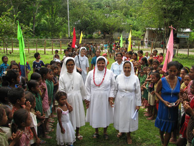 Maliana Kailaku.  Canonical visit of Sr. Lucy Rose – East Timor and Indonesia (TIN). Welcome.