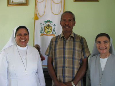 Maliana Kailaku.  Canonical visit of Sr. Lucy Rose – East Timor and Indonesia (TIN). Meeting with the Bishop of Maliana, His Excellency Norberto Du Amaral  DD.
