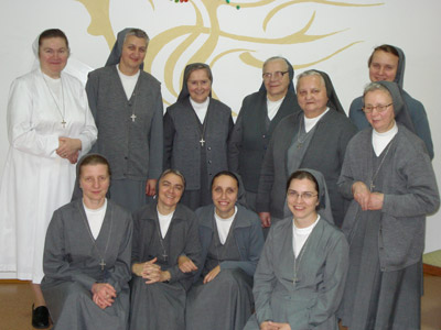 Suwałki. Canonical visit of Sr. Carla Castellino to the Polish Province of Our Lady of Jasna Gòra (PLJ). With the community.