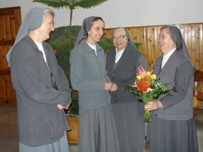Suwałki. Canonical visit of Sr. Carla Castellino to the Polish Province of Our Lady of Jasna Gòra (PLJ). Warm greetings.
