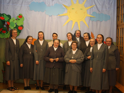 Warsaw. Canonical visit of Sr. Carla Castellino to the Polish Province of Our Lady of Jasna Gòra (PLJ). With the community.
