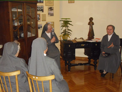 Pogrzebień. Canonical visit of Sr. Carla Castellino to the Polish Province of Our Lady of Jasna Gòra (PLJ). With the community.