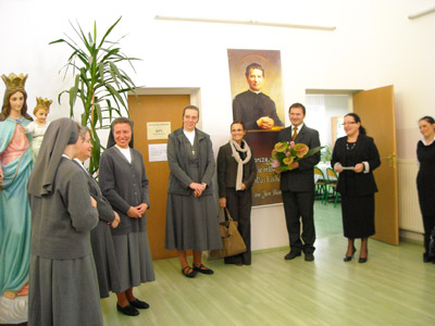 Jastręzbie. Canonical visit of Sr. Carla Castellino to the Polish Province of Our Lady of Jasna Gòra (PLJ). Meeting with teachers and parents.