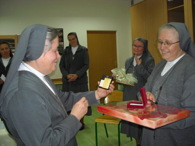 Jastręzbie. Canonical visit of Sr. Carla Castellino to the Polish Province of Our Lady of Jasna Gòra (PLJ). Moment of thanksgiving.