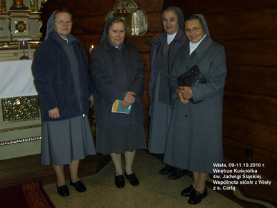 Wisła. Canonical visit of Sr. Carla Castellino to the Polish Province of Our Lady of Jasna Gòra (PLJ). With the community.