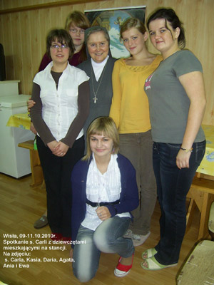 Wisła. Canonical visit of Sr. Carla Castellino to the Polish Province of Our Lady of Jasna Gòra (PLJ). With the residents.
