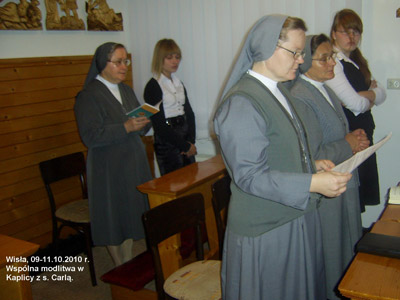 Wisła. Canonical visit of Sr. Carla Castellino to the Polish Province of Our Lady of Jasna Gòra (PLJ). At a moment of prayer.