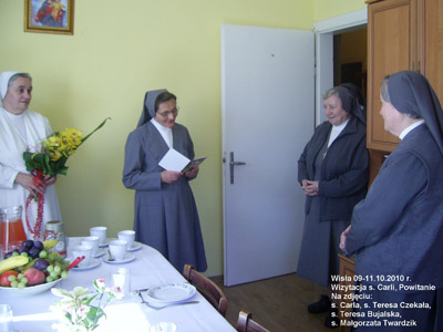 Wisła. Canonical visit of Sr. Carla Castellino to the Polish Province of Our Lady of Jasna Gòra (PLJ). Final greetings.
