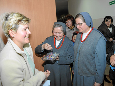 Cracow. Canonical visit of Sr. Carla Castellino to the Polish Province of Our Lady of Jasna Gòra (PLJ). Meeting with the parents of the school children.