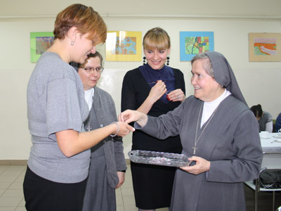 Cracow. Canonical visit of Sr. Carla Castellino to the Polish Province of Our Lady of Jasna Gòra (PLJ). Meeting with teachers.