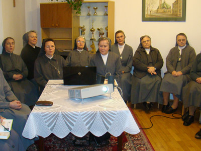 Warszawa S. Maria D. Mazzarello.Canonical visit to the Polish Province of Our Lady of Jasna Gòra (PLJ). Community meeting.