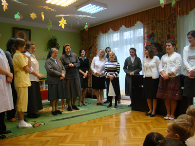 Warszawa S. Maria D. Mazzarello.Canonical visit to the Polish Province of Our Lady of Jasna Gòra (PLJ). Teachers in the preschool.