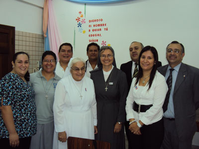 Asuncion. Visit of Sr. Marija in Paraguay. With the representatives of the parents.